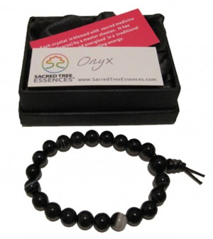 Onyx Power Bead Bracelet